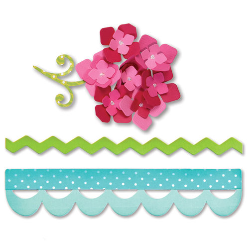 Sizzix - Bigz Die - Sweet Treats Collection - Die Cutting Template - Borders and Hydrangeas