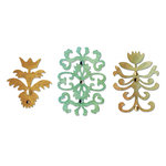 Sizzix - Sizzlits Die - Luxurious Collection - Die Cutting Template - Medium - Floral Insignia Set