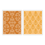 Sizzix - Textured Impressions - Luxurious Collection - Embossing Folders - Luxurious Set