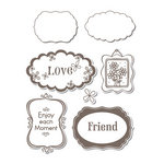 Sizzix - Hero Arts - Framelits - Die Cutting Template and Repositionable Rubber Stamp Set - Message Frames