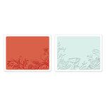 Sizzix - Textured Impressions - Greetings Collection - Embossing Folders - Vine and Flower Garden Set