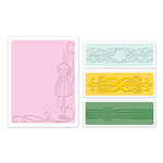 Sizzix - Textured Impressions - Greetings Collection - Embossing Folders - Dress Form Set
