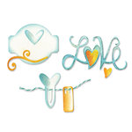 Sizzix - Sizzlits Die - Die Cutting Template - Medium - Love Set