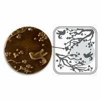 Sizzix - DecoEmboss Die - Vintaj - Embossing Folders - Cherry Blossom Garden