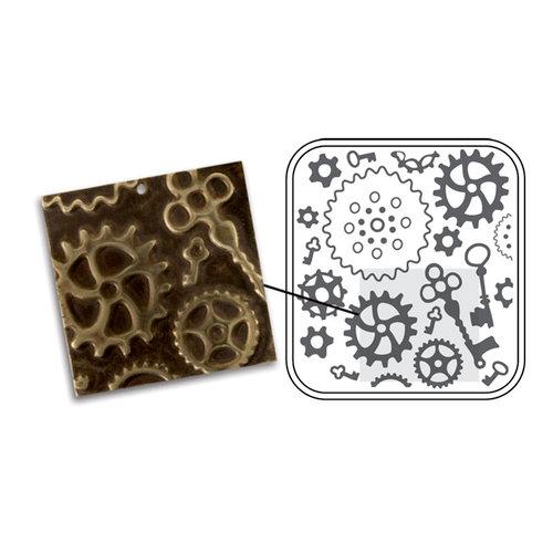 Sizzix - DecoEmboss Die - Vintaj - Embossing Folders - Steampunk Parts