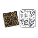 Sizzix - DecoEmboss Die - Vintaj - Embossing Folders - Steampunk Parts