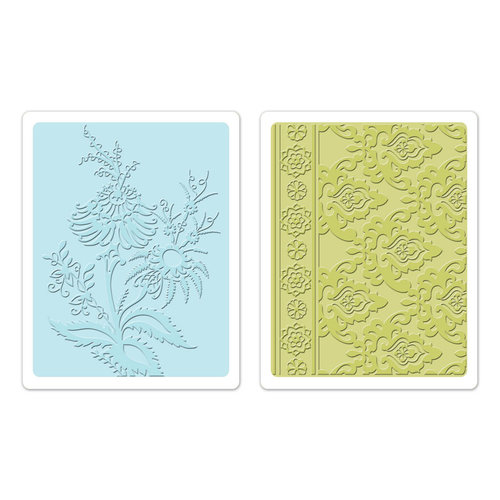 Sizzix - Textured Impressions - Bohemia Collection - Embossing Folders - Beatnik Bouquet Set
