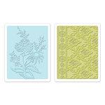 Sizzix - Textured Impressions - Bohemia Collection - Embossing Folders - Beatnik Bouquet Set