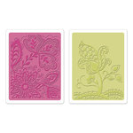 Sizzix - Textured Impressions - Bohemia Collection - Embossing Folders - Groovy Flowers Set