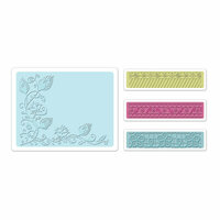 Sizzix - Textured Impressions - Bohemia Collection - Embossing Folders - Peacock Vine Set