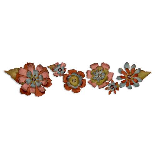 Sizzix - Tim Holtz - Alterations Collection - Sizzlits Decorative Strip Die - Tattered Flower Garland