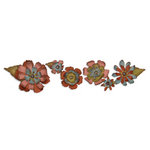Sizzix - Tim Holtz - Sizzlits Decorative Strip Die - Alterations Collection - Die Cutting Template - Tattered Flower Garland