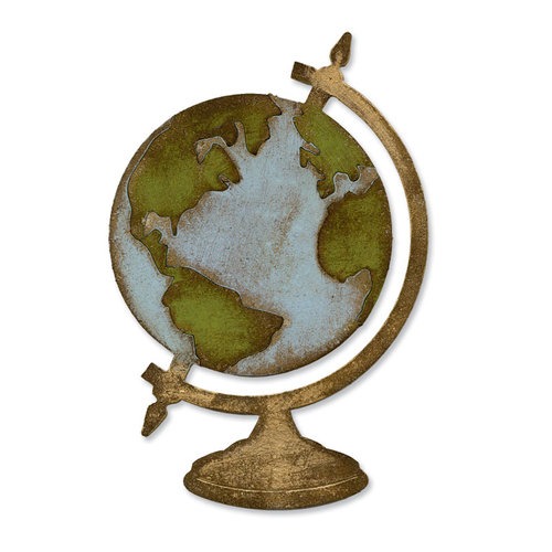 Sizzix - Tim Holtz - Alterations Collection - Bigz Die - Vintage Globe