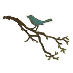 Sizzix - Tim Holtz - Bigz Die - Alterations Collection - Die Cutting Template - Bird Branch