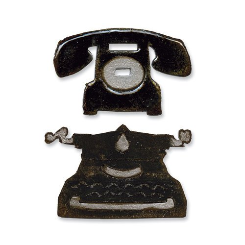 Sizzix Tim Holtz Vintage Telephone and Typewriter Set Movers and Shapers Die