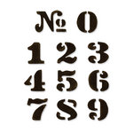Sizzix - Tim Holtz - Movers and Shapers Die - Alterations Collection - Die Cutting Template - Cargo Stencil Number Set