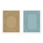 Sizzix - Tim Holtz - Texture Fades - Alterations Collection - Embossing Folders - Book Covers Set