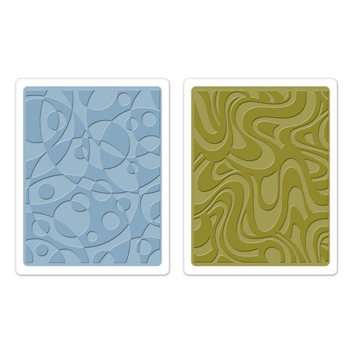 Sizzix - Tim Holtz - Texture Fades - Alterations Collection - Embossing Folders - Retro Cirque Set