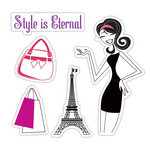 Sizzix - Hero Arts - Framelits - Die Cutting Template and Repositionable Rubber Stamp Set - Style is Eternal Set