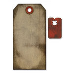 Sizzix - Tim Holtz - Movers and Shapers Die - Alterations Collection - Die Cutting Template - Tag and Tie