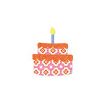 Sizzix - Bigz L Die - Quilting - Cake Layers with Candle and Frosting