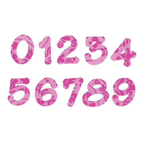 Sizzix - Bigz Die - Set Two - Lollipop Shadow Numbers