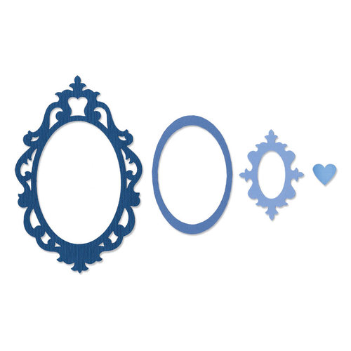 Sizzix - Framelits - Die Cutting Template - Frame, Fancy Oval