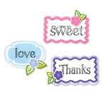 Sizzix - Framelits - Die Cutting Template and Repositionable Rubber Stamp Set - Words and Tags
