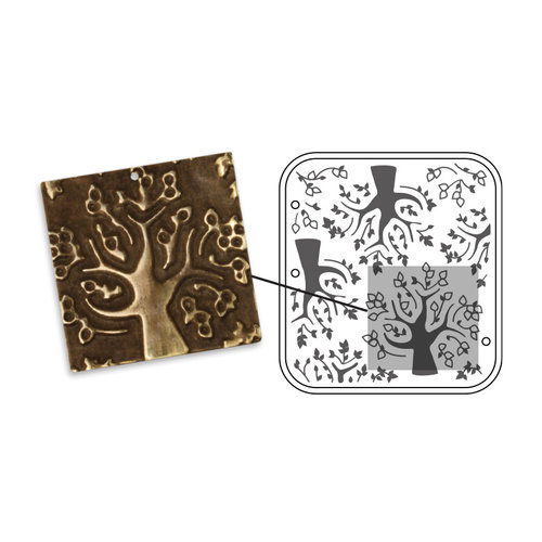 Sizzix - DecoEmboss Die - Vintaj - Embossing Folders - Mod Trees