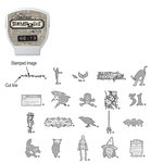 Sizzix - EClips - Tim Holtz - Alterations Collection - Electronic Shape Cutting System - Cartridge - Stamp2Cut - Number 13