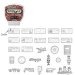 Sizzix - EClips - Tim Holtz - Alterations Collection - Electronic Shape Cutting System - Cartridge - Stamp2Cut - Number 14