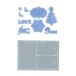 Sizzix - Framelits Die and Embossing Folder - Christmas - Collage Frames Set