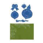 Sizzix - Framelits Die and Embossing Folder - Christmas - Pinecone and Ornament Set