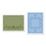 Sizzix - Textured Impressions - Embossing Folders - Holiday Frames Set