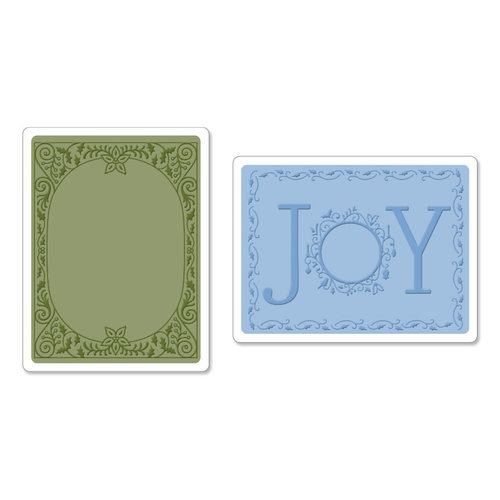 Sizzix - Textured Impressions - Christmas - Embossing Folders - Holiday Joy Set