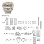 Sizzix - EClips - Tim Holtz - Alterations Collection - Electronic Shape Cutting System - Cartridge - Stamp2Cut - Number 19