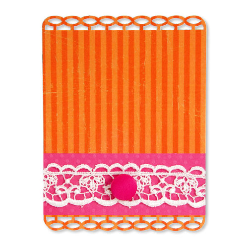 Sizzix - Home Entertaining Collection - Sizzlits Die - Large - Card, Ribbon Insert