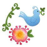 Sizzix - Home Entertaining Collection - Sizzlits Die - Medium - Bird and Flower Vine Set