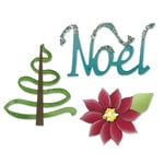 Sizzix - Sizzlits Die - Die Cutting Template - Medium - Noel Set