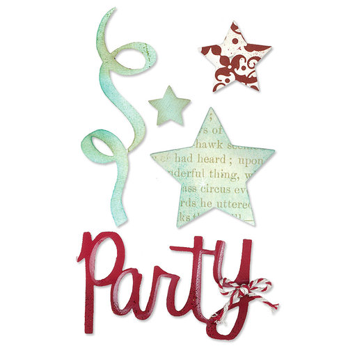 Sizzix - Sizzlits Die - Medium - Party Set 2