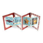 Sizzix - Bigz Die - Die Cutting Template - Album, Accordion Flip 3-D