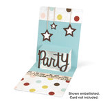 Sizzix - Pop 'n Cuts - Die Cutting Template - 3-D Pop Up - Phrase, Party