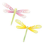 Sizzix - Sizzlits Die - Botanical Sanctuary Collection - Die Cutting Template - Large - Dragonflies
