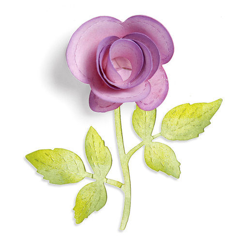 Sizzix - Sizzlits Die - Botanical Sanctuary Collection - Die Cutting Template - Large - Flower, 3-D and Vine