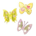Sizzix - Sizzlits Die - Botanical Sanctuary Collection - Die Cutting Template - Medium - Butterfly Set 3