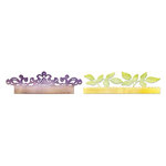 Sizzix - Botanical Sanctuary Collection - Sizzlits Decorative Strip Die - Card Edges, Decorative Accent and Leaves