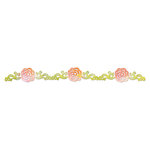 Sizzix - Botanical Sanctuary Collection - Sizzlits Decorative Strip Die - Flower, Rose Vine