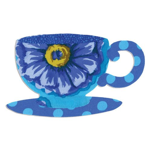 Sizzix - Bigz Die - Quilting - Tea Cup and Saucer