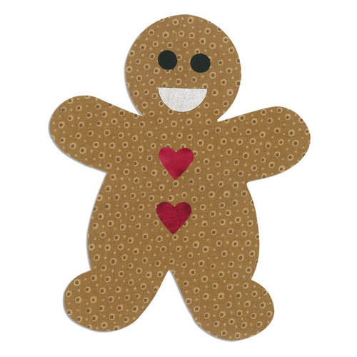 Sizzix - Bigz L Die - Christmas - Quilting - Gingerbread Man