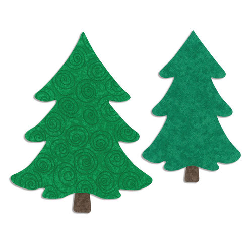 Sizzix - Bigz L Die - Quilting - Die Cutting Template - Trees, Christmas